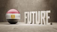 Egypt. Future  Concept. - stock illustration