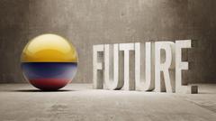 Colombia. Future  Concept. - stock illustration