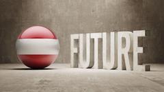 Austria. Future  Concept. Stock Illustration