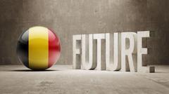 Belgium. Future  Concept. - stock illustration