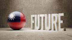 Taiwan. Future  Concept. Stock Illustration