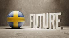 Sweden. Future  Concept. - stock illustration