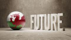 Wales. Future  Concept. - stock illustration