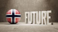 Norway. Future  Concept. Stock Illustration