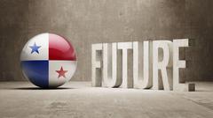 Panama. Future  Concept. Stock Illustration