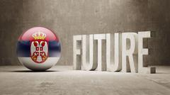 Serbia. Future  Concept. - stock illustration