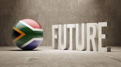 South Africa. Future  Concept. - stock illustration