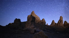 4K 3 Axis Motion Control Astro Time Lapse of Milky Way & Pinnacles -Pan Right- Stock Footage