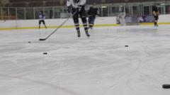 Hockey warmup, Ice Hockey team sport game day - stock footage