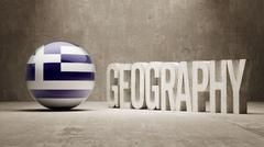 Stock Illustration of Greece. Geography  Concept.
