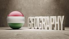 Hungary. Geography  Concept. - stock illustration