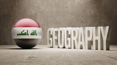 Iraq. Geography  Concept. Stock Illustration