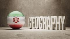Stock Illustration of Iran. Geography  Concept.