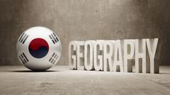 South Korea. Geography  Concept. - stock illustration