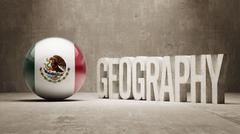 Mexico. Geography  Concept. - stock illustration