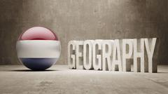 Netherlands. Geography  Concept. - stock illustration