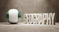 Stock Illustration of Nigeria. Geography  Concept.