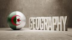 Stock Illustration of Algeria. Geography  Concept.