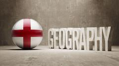 England. Geography  Concept. - stock illustration