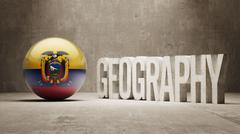 Stock Illustration of Ecuador. Geography  Concept.