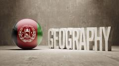Stock Illustration of Afghanistan. Geography  Concept.