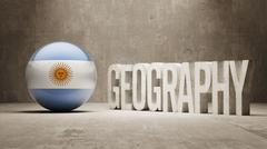 Argentina. Geography  Concept. - stock illustration