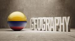 Colombia. Geography  Concept. Stock Illustration
