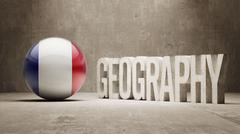 France. Geography  Concept. Stock Illustration