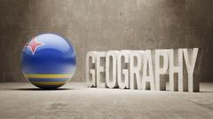 Aruba. Geography  Concept. Stock Illustration