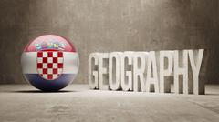 Stock Illustration of Croatia. Geography  Concept.