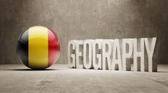 Belgium. Geography  Concept. - stock illustration