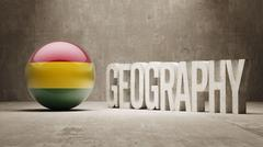 Bolivia. Geography  Concept. - stock illustration