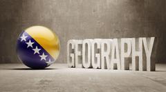 Stock Illustration of Bosnia and Herzegovina. Geography  Concept.