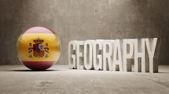 Stock Illustration of Spain. Geography  Concept.