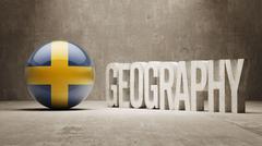 Sweden. Geography  Concept. - stock illustration