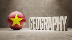 Vietnam. Geography  Concept. - stock illustration