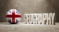 United Kingdom. Geography  Concept. Stock Illustration