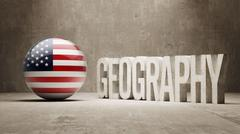 Stock Illustration of United States. Geography  Concept.
