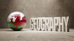 Wales. Geography  Concept. - stock illustration
