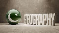 Pakistan. Geography  Concept. Stock Illustration