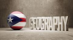 Puerto Rico. Geography  Concept. - stock illustration