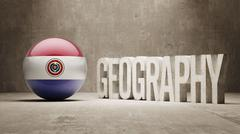 Paraguay. Geography  Concept. - stock illustration