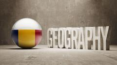 Romania. Geography  Concept. - stock illustration