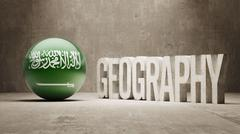 Stock Illustration of Saudi Arabia. Geography  Concept.