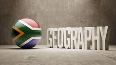 Stock Illustration of South Africa. Geography  Concept.