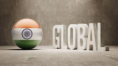 India. Global  Concept. - stock illustration