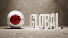 Japan. Global  Concept. - stock illustration