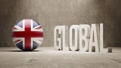 Stock Illustration of United Kingdom. Global  Concept.