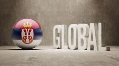 Serbia. Global  Concept. - stock illustration