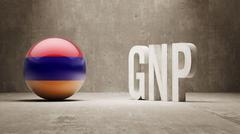 Armenia. GNP  Concept. Stock Illustration